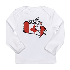 Map Of Canada Long Sleeve Infant T-Shirt
