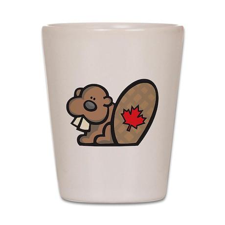 Canada Beaver Shot Glass