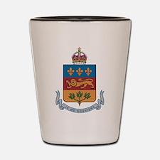 Quebec Coat Of Arms Shot Glass