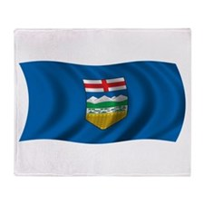 Wavy Alberta Flag Throw Blanket