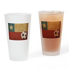 Vintage Chile Flag Pint Glass