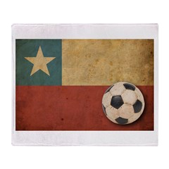 Vintage Chile Flag Throw Blanket