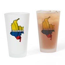 Map Of Colombia Pint Glass