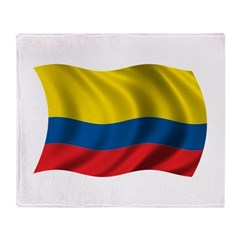 Wavy Colombia Flag Throw Blanket