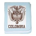 Vintage Colombia baby blanket