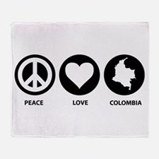 Peace Love Colombia Throw Blanket