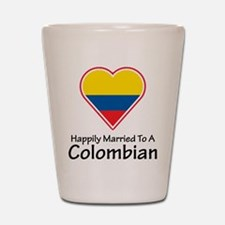 Happily Married Colombian Shot Glass
