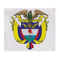 Colombia Coat Of Arms Throw Blanket