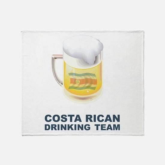 Costa Rican Drinking Team Throw Blanket