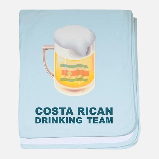 Costa Rican Drinking Team baby blanket
