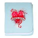 Heart Costa Rica baby blanket