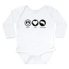 Peace Love Costa Rica Long Sleeve Infant Bodysuit
