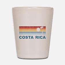 Retro Costa Rica Palm Tree Shot Glass