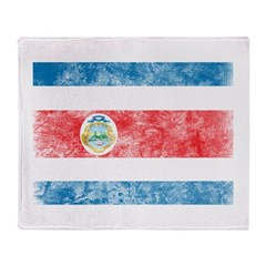 Vintage Costa Rica Flag Throw Blanket