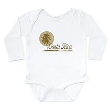 Palm Tree Costa Rica Long Sleeve Infant Bodysuit