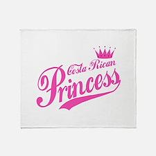 Costa Rican Princess Throw Blanket