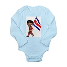 3D Costa Rica Long Sleeve Infant Bodysuit