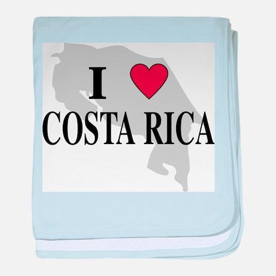 I Love Costa Rica baby blanket