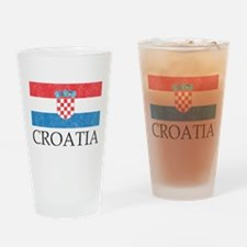 Vintage Croatia Pint Glass