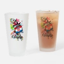 Flower Croatia Pint Glass
