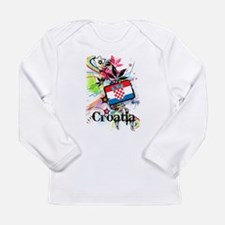 Flower Croatia Long Sleeve Infant T-Shirt