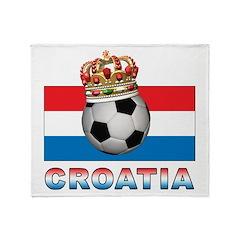 Croatia Football Throw Blanket