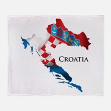 Map Of Croatia Throw Blanket