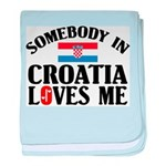 Somebody In Croatia baby blanket