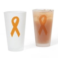 Orange Aware Ribbon Drinking Glass