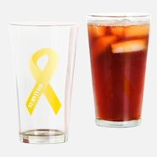 Yellow Ribbon Survivor Pint Glass