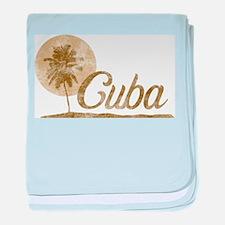 Palm Tree Cuba baby blanket