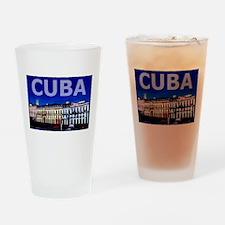 Vintage Cuba Art Pint Glass