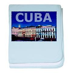 Vintage Cuba Art baby blanket