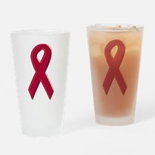 Burgundy Awareness Ribbon Pint Glass
