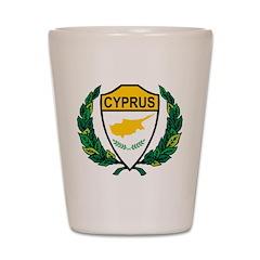 Stylized Cyprus Shot Glass