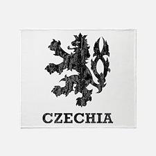 Vintage Czechia Throw Blanket