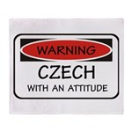 Attitude Czech Throw Blanket