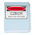 Attitude Czech baby blanket
