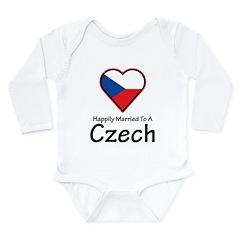 Happily Married Czech Long Sleeve Infant Bodysuit
