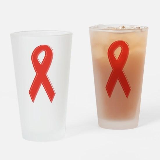 Red Awareness Ribbon Pint Glass