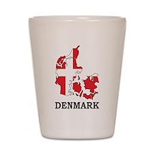 Denmark Map Shot Glass