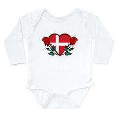 Heart Denmark Long Sleeve Infant Bodysuit