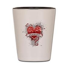 Heart Denmark Shot Glass