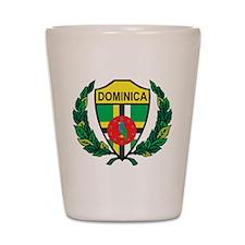 Stylized Dominica Shot Glass