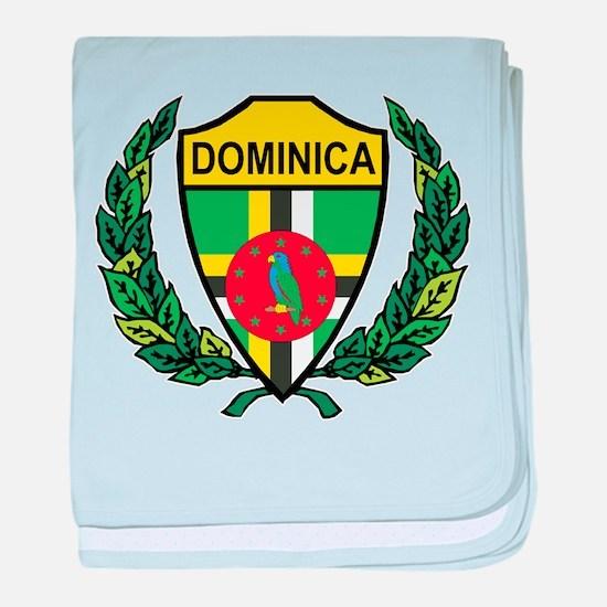 Stylized Dominica baby blanket