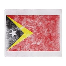 Vintage East Timor Flag Throw Blanket