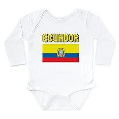 Ecuador Flag Long Sleeve Infant Bodysuit