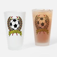 Ecuador Soccer Pint Glass