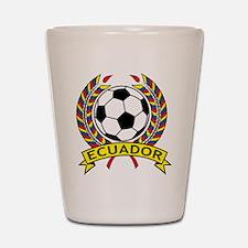 Ecuador Soccer Shot Glass