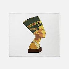 Nefertiti Throw Blanket
